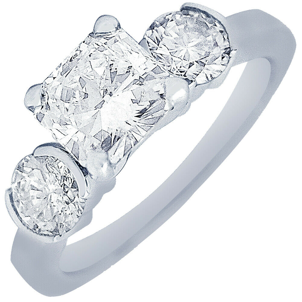 GIA Certified Diamond Engagement Ring 14k White Gold 1.40 carat Cushion Cut