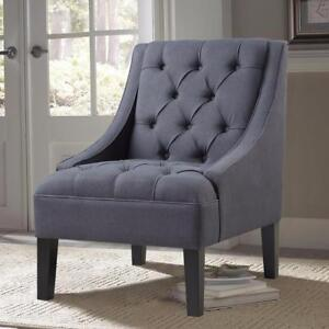 New, Gray Fabric Arm Chair *PickupOnly