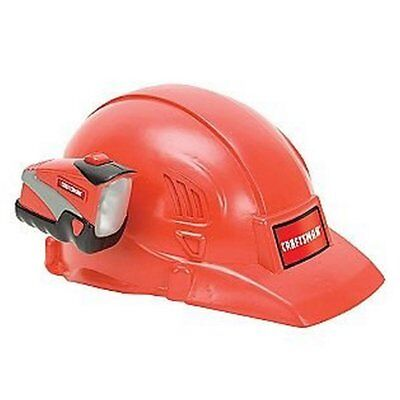 Craftsman Construction Workers Helmet With Attachable Working Flashlight Red
