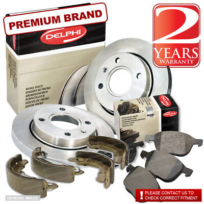 Citroen Saxo 1.1 Front Brake Discs Pads 247mm Solid Rear Shoes 180mm 60BHP 96-On