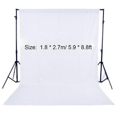 Photography Studio 1.8*2.7m/5.9*8.8ft Fabric Backdrop Background Screen White