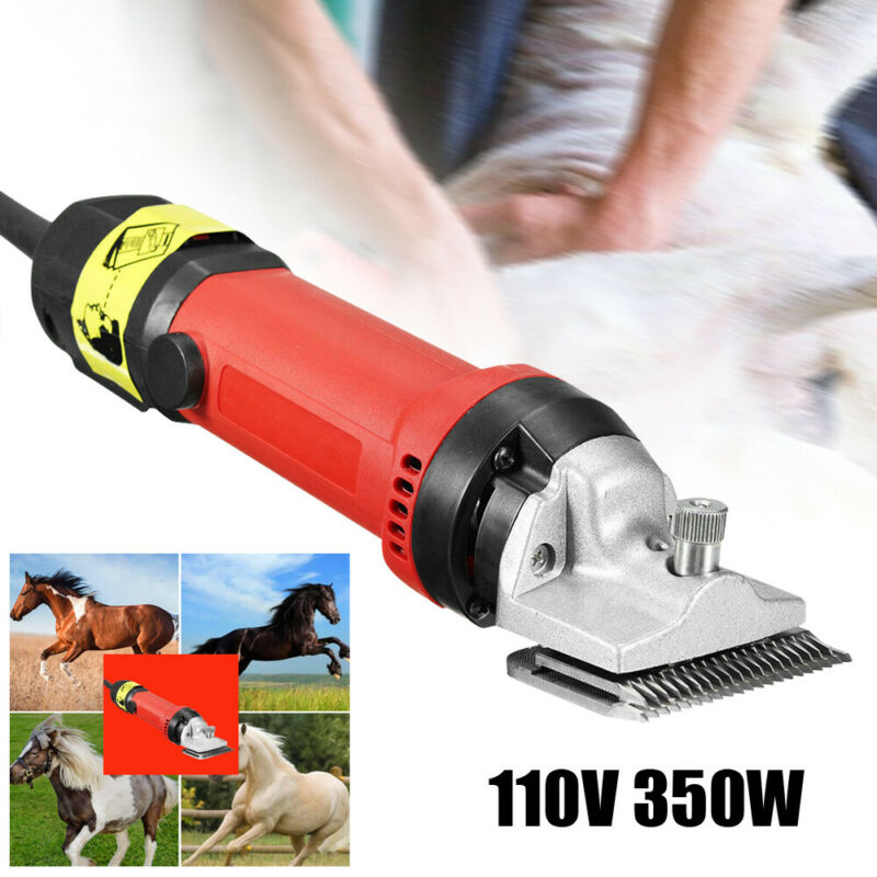 350W Electric Horse Cattle Sheep Shears Clippers Grooming Shearing Machine+Brush