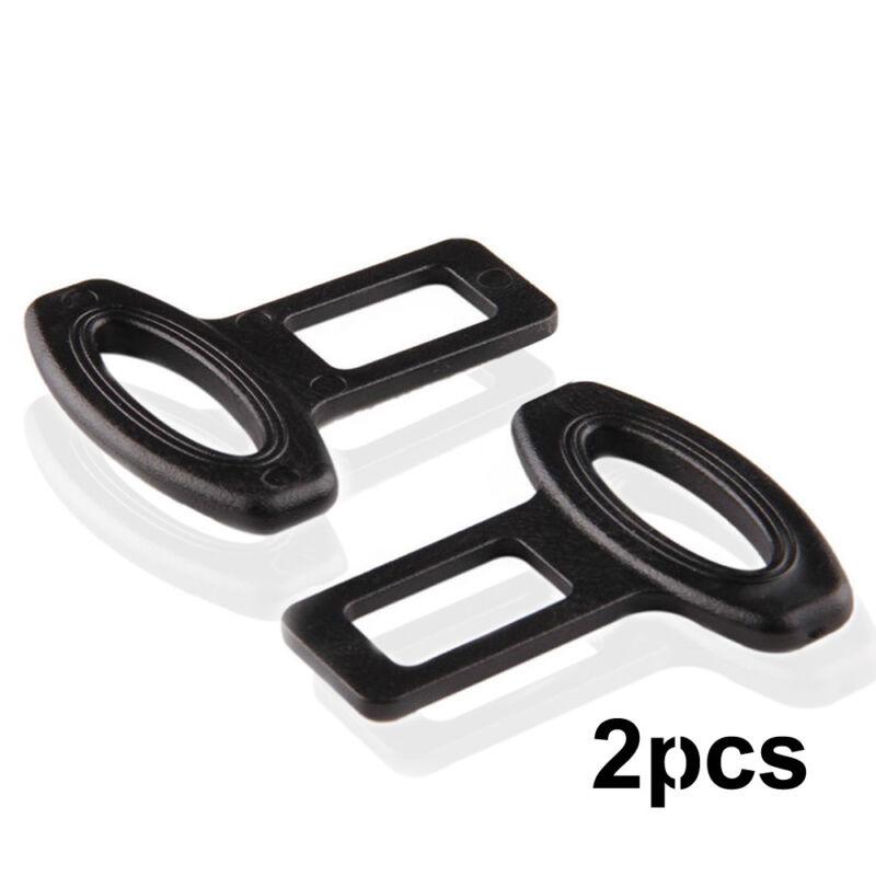 2pcs Auto Seat Belt Buckle Safety Alarm Clasp Stopper Eliminator 2.1cm