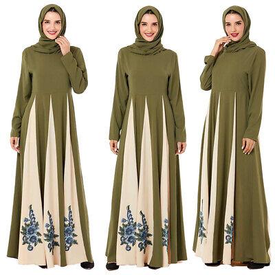 Islamic Muslim Dress Abaya Robe Women Maxi Dress Loose Embroidery Kaftan Dubai