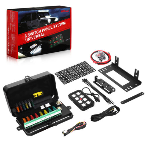 8 Gang Waterproof Car Auto Boat Marine LED Switch Panel Electronic Relay Breaker