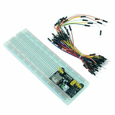 830 Point Solderless Pcb Breadboard 65pcs Jumper Cable Power Module
