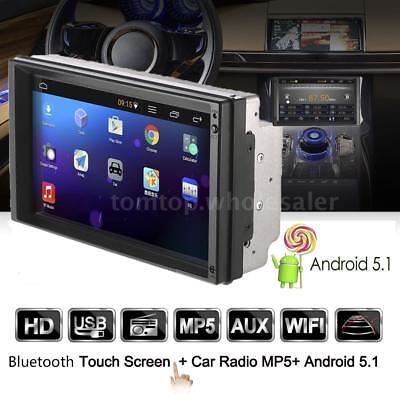 7'' Car Stereo Radio GPS Navi MP5 Player 2DIN Wifi Bluetooth USB FM Android 5.1