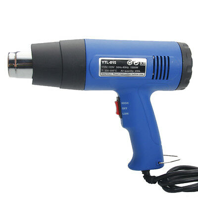 Heat Gun Hot Air Gun Dual Temperature 4 Nozzles Power Tool 1500W Paint Stripper