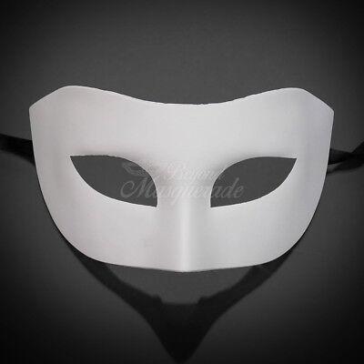 DIY Classic White Blank Unpainted Venetian Mardi Gras Masquerade Mask W7344 - Blank Masquerade Masks