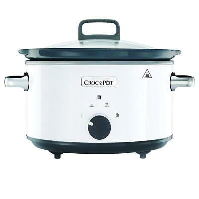 Crock-Pot CSC030X 3.5L White Slow Cooker 220-240 Volts 50Hz Export Only