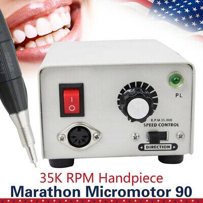 Dental Lab Micromotor Marathon Strong 90 Micro Motor35k Rpm Polisher Handpiece