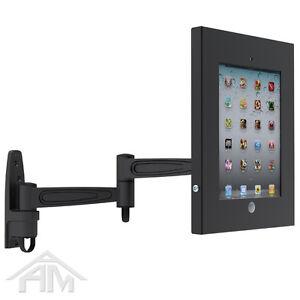 Anti-Theft Secure iPAD 2 3 4 Wall Mount Bracket Holder - Lockable Enclose Case