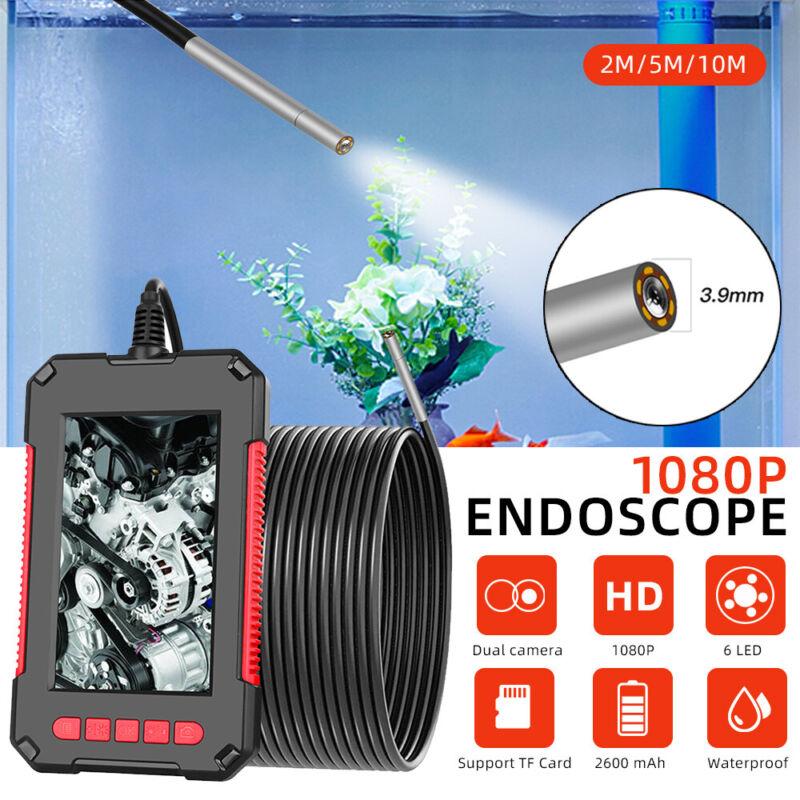 "4.3"" IPS 1080P Endoscope Industry Borescope Inspection 4mm 6LED Lens Camera IP67"