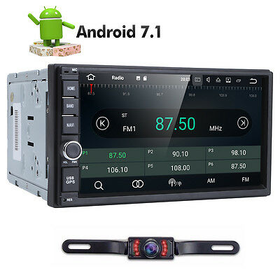 7'' Smart Android 7.1 4G WiFi Double 2DIN Car Radio Stereo No-DVD Player GPS+Cam