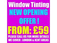 CAR WINDOW TINTING MOBILE JOB FROM JUST £59 CALL US NOW, LIMITED TIME OFFER!