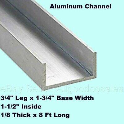 Aluminum Channel 34 Leg X 1-34 Base Width X 1-12 Inside X 18 Thick X 8 Ft