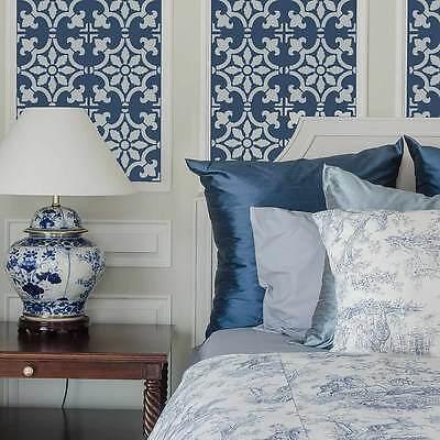 Fabiola Tile Stencil - Size: LARGE - Reusable Tile Stencils for DIY Home Decor