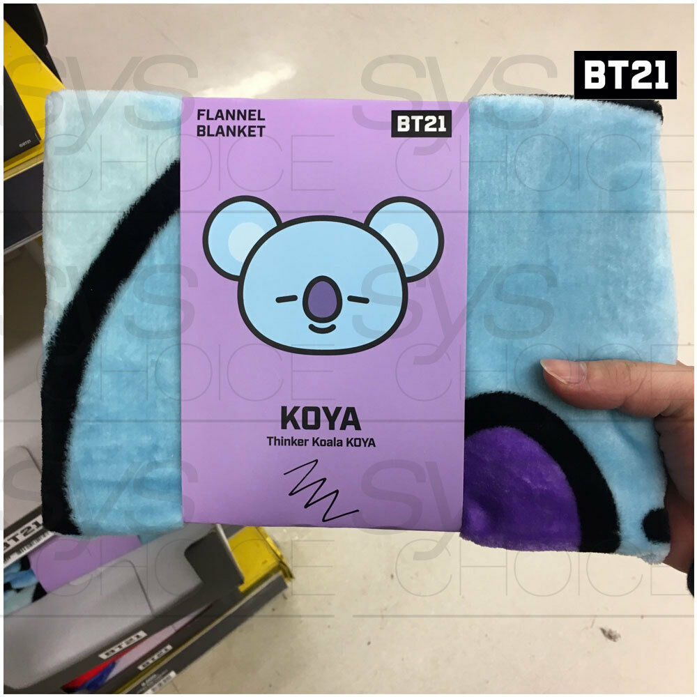 BTS BT21 Official Authentic Goods Flannel Blanket by Home Plus + Tracking Number
