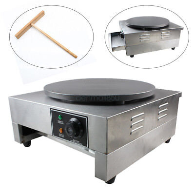 Commercial Nonstick Electric 40cm Single Crepe Maker 15.7 Pancake Baker Machine