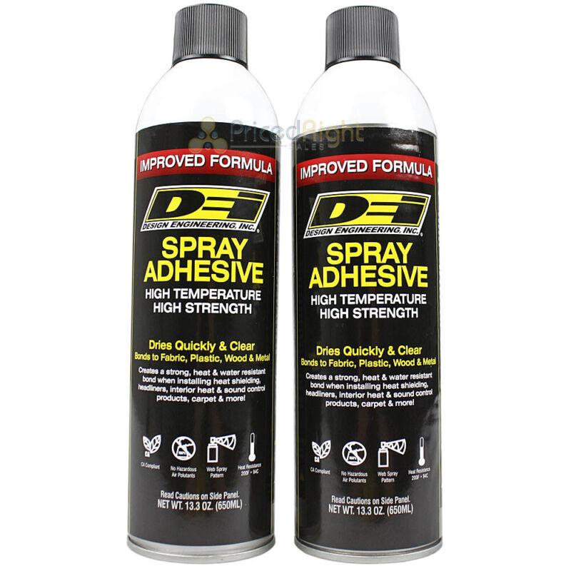 Hi Temp Spray Adhesive 13 oz Headliner Glue Upholstery High Strength DEI 2 Pack