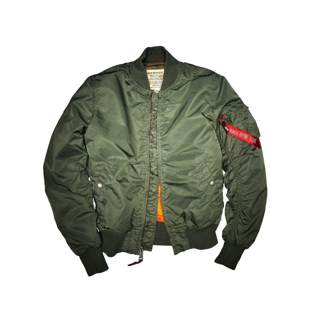 Alpha Industries Jacket Bomber Ma 1 Vf 59 In Olive Men