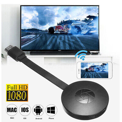 Miracast HD 1080P TV Media Wireless WIFI Android/IOS/Win For Chromecast Black
