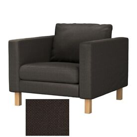 Ikea Karlstad armchair, brown, discontinued line, was £200 new