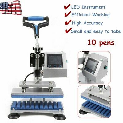 10x Digital Pen Heat Press Machine Ball-point Logo Transfer Print 3d Sublimation