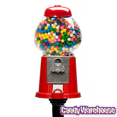 Gumball Machine Vintage Bank Stand Bubble Candy Dispenser Classic Decor 15 In.