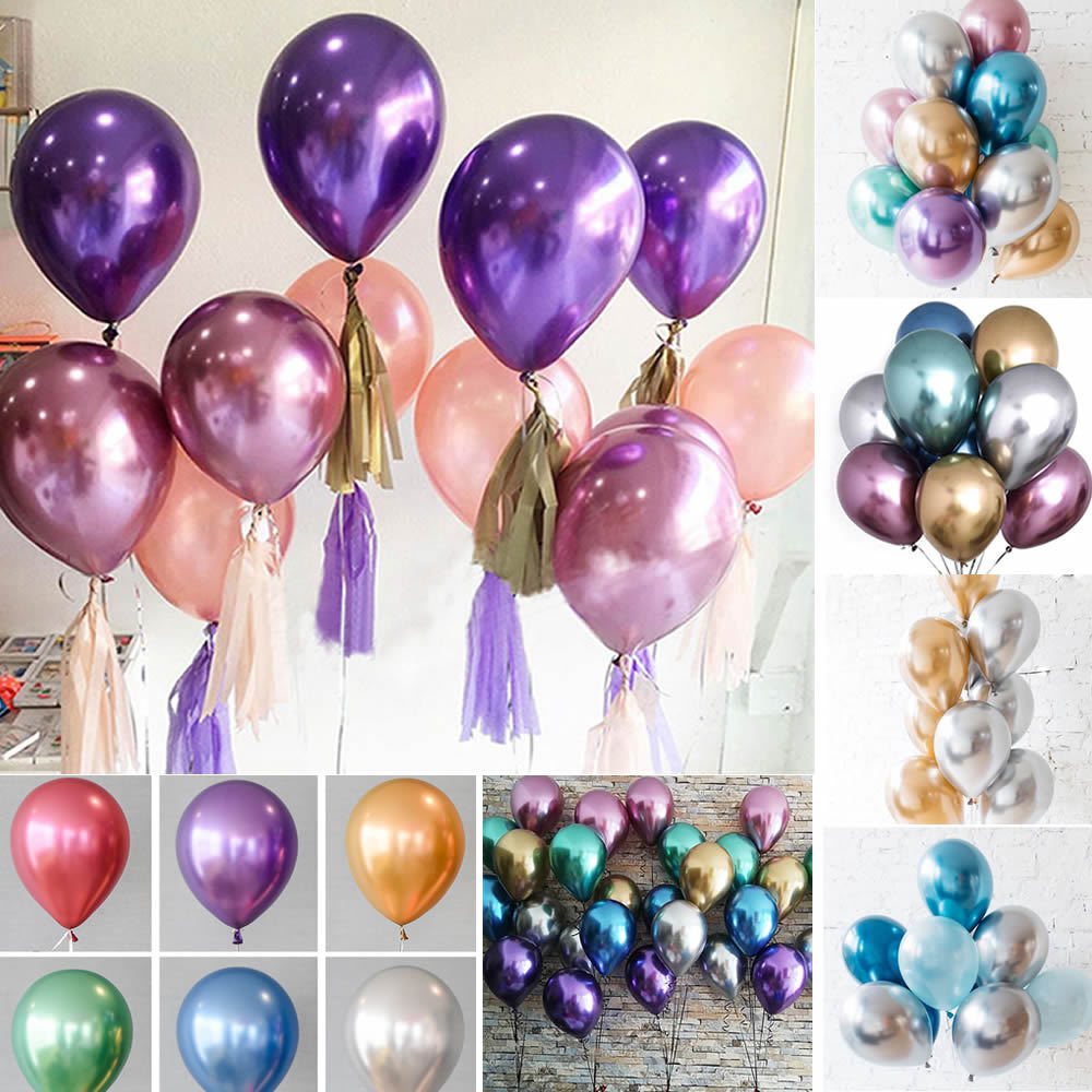 """METALLIC BALLOONS 10/"""" SIZE LATEX PEARL BALLONS HIGHT QUALITY PARTY BALOONS"""