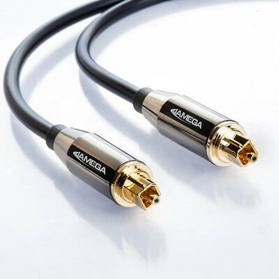 1m Toslink Premium HQ von JAMEGA   Optisches Audiokabel LWL SPDIF Digital