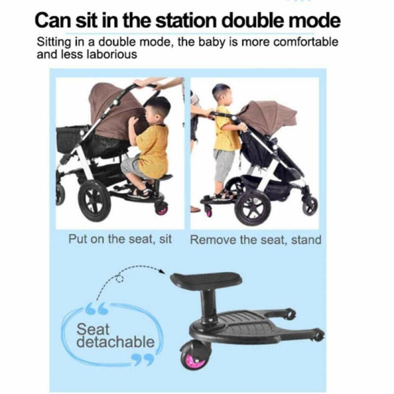 Kids Children Buggy Board Wheeled Pushchair Stroller Step Board Load Up To 25kg