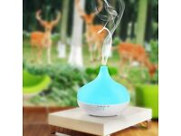 Aromatherapy 300 ML White Chimney Diffuser/LED Night Light (NEW)