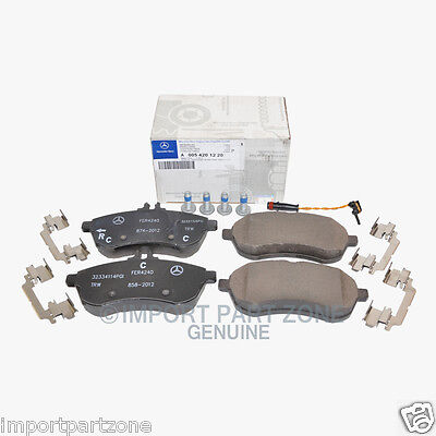 Mercedes Front Brake Pads Pad Set Genuine OE 0051220 + Sensor 21117 VIN#REQUIRED