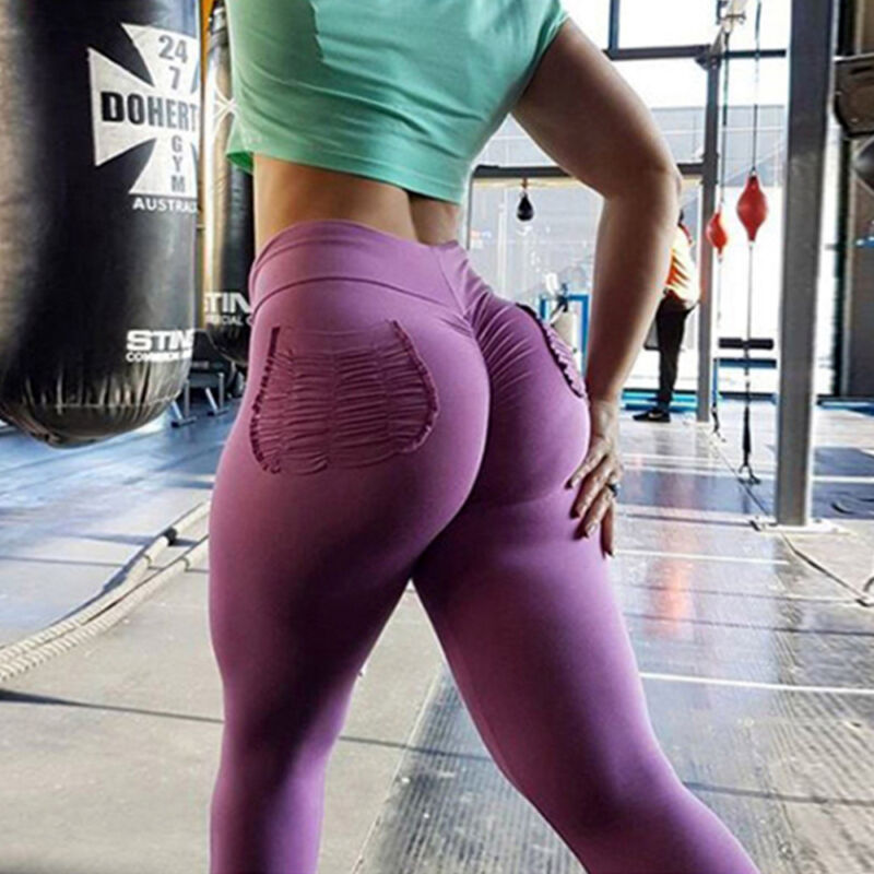 Women High Waist Yoga Pants Gym Sports Legging Stretch
