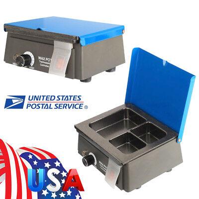 Analog Wax Heater Pot 3-well Digital Waxer Melting Dipping Dental Temperature