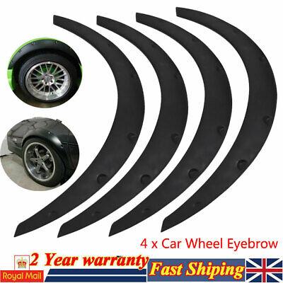 4Pcs Universal Car Fender Flares Flexible Wheel Eyebrow Arch Trims Protector UK