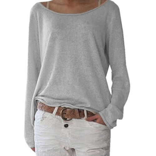 ISASSY Womens Fall Autumn Knit Pullover Ladies Sweater Jumper Tops T-shirts Tee