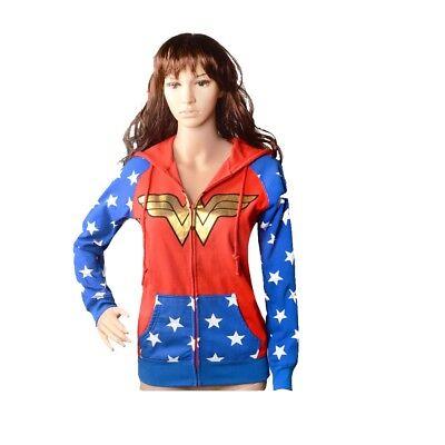 Teenager Kapuzenpulli Kostüm Inspire von Wonder Woman für Halloween (Halloween T Shirts Für Erwachsene)