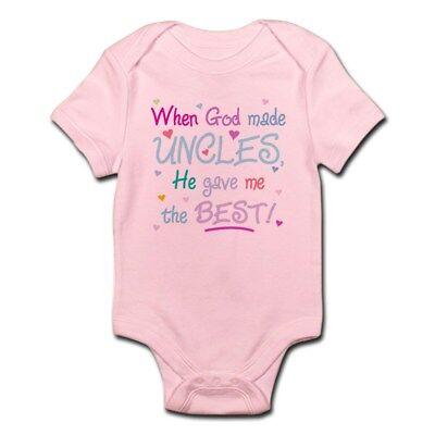 CafePress GOD GAVE ME THE BEST UNCLE! Snap Body Shirt Baby Bodysuit