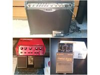Line 6 Guitar Amp, Boss Distortion pedal & Boss Loop Station pedal. Please make an offer for any.