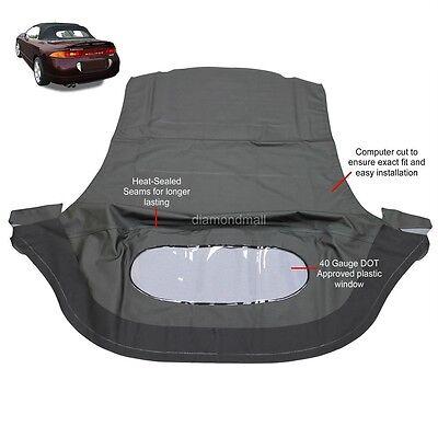 Mitsubishi Eclipse Spyder Convertible Top   Plastic Window 95 99 Black Twill