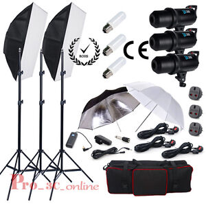 900w-STUDIO-FOTOGRAFICO-DIGITALE-DISPLAY-LED-LUCE-STROBO-FLASH-Softbox-illuminazione-Kit-UK