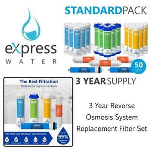NEW Express Water  3 Year Reverse Osmosis System Replacement Filter Set  23 Filters with 50 GPD RO Membrane, Carbon...