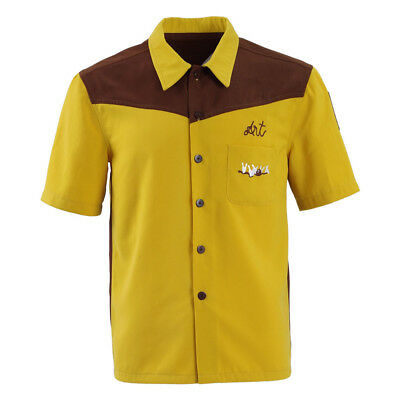 Big Lebowski Bowling Shirt (Dude Shirt Big Lebowski Cosplay Costume Yellow Medina Sod Bowling)