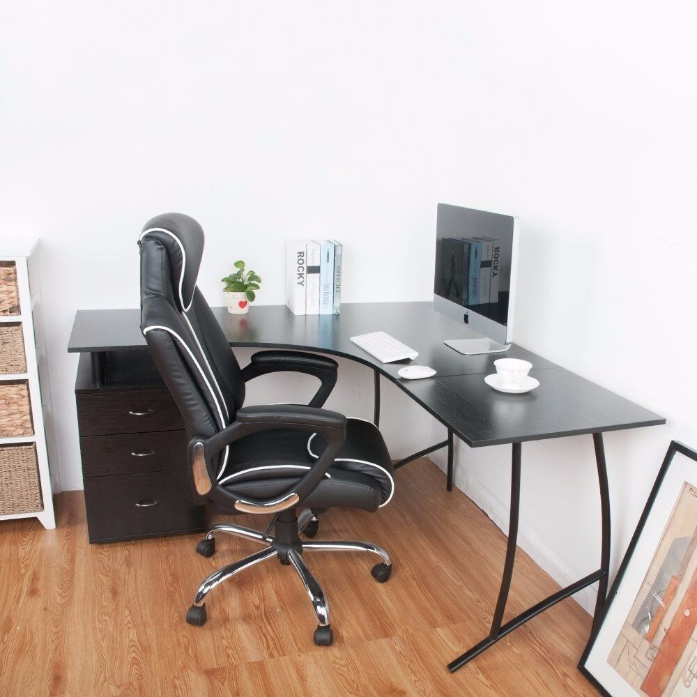 SALE L Shape Large Corner Computer Desk PC Table