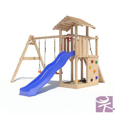 Empire II Spielturm Kletterturm XL-Rutsche Schaukel Stelzenhaus 1,2m  Podesthöhe