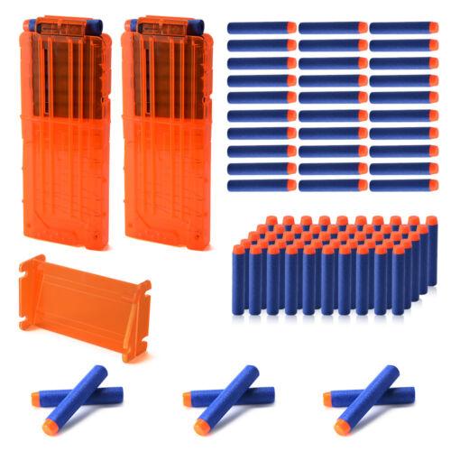 12-Darts Refill Magazine Clip + 100pcs EVA Ammo Bullet für Nerf N-strike TH729