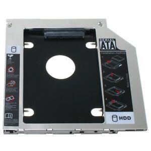 9.5mm Universal SATA 2nd HDD SSD Hard Drive Caddy for CD/DVD-ROM Optical Bay AU