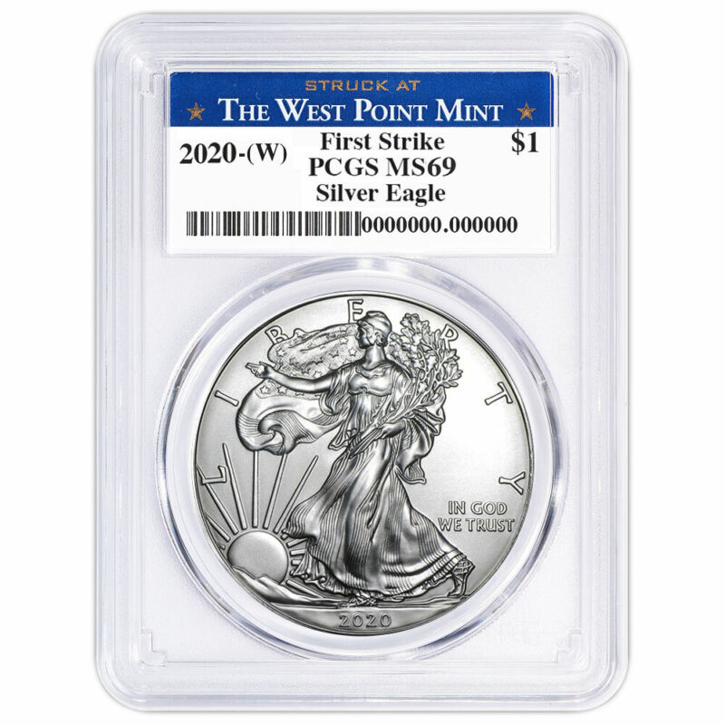 Presale - 2020 (W) $1 American Silver Eagle PCGS MS69 First Strike West Point La